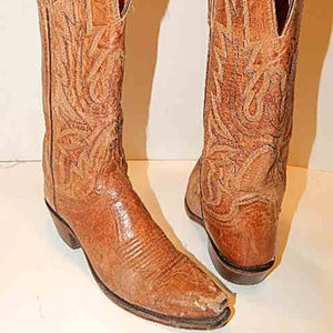 Lucchese Women Leather CowBoy Boots Size 6 Pull On